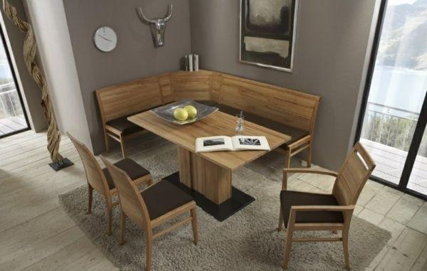 Esszimmer Massiv Modern On In Bezug Auf Eckbank Kreativität Tisch Eckbankgruppe Wildeiche 1