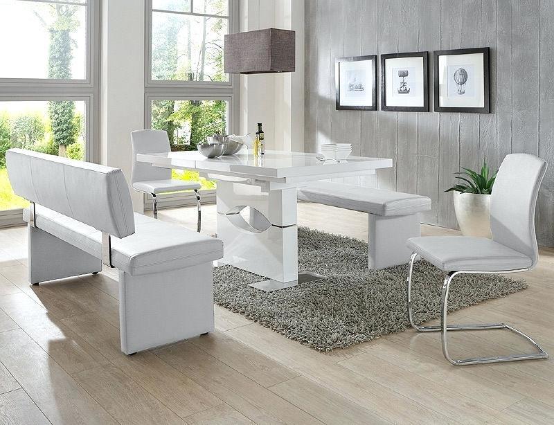 Esszimmer Modern Weiß Grau Bescheiden On Beabsichtigt Set Weiss Fur Weis Luxus Plus In Grauweiss 5