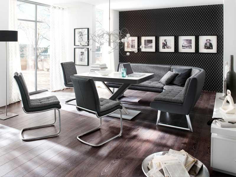 Esszimmer Modern Weiß Grau Exquisit On In Bezug Auf Eckbank Weiss Fur Wei Köstlich Ideen 6