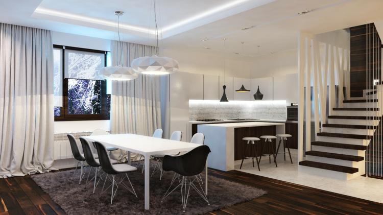 Esszimmer Weiss Fein On Andere Mit Design Ideen Spannende Schwarz Weiß Kontraste Setzen 6