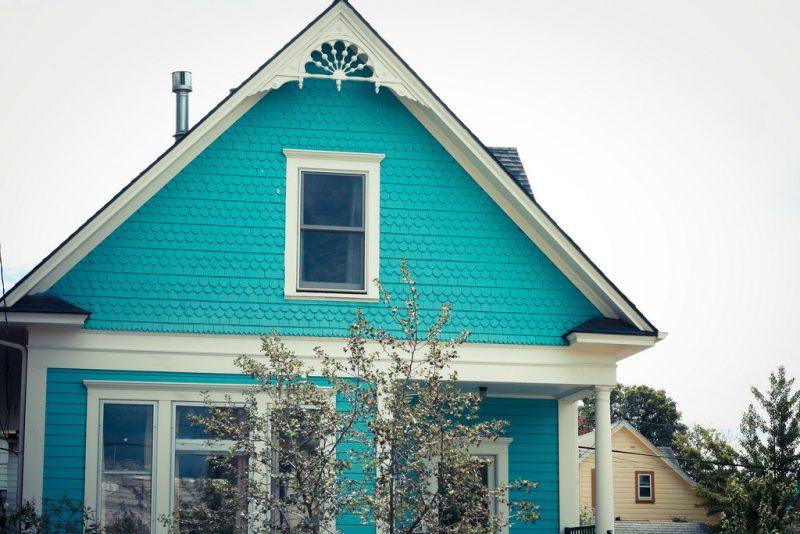 Farbe Einfamilienhaus Türkis Beeindruckend On Andere Für Beispiele Fassadenfarben Architektur ZENIDEEN 7