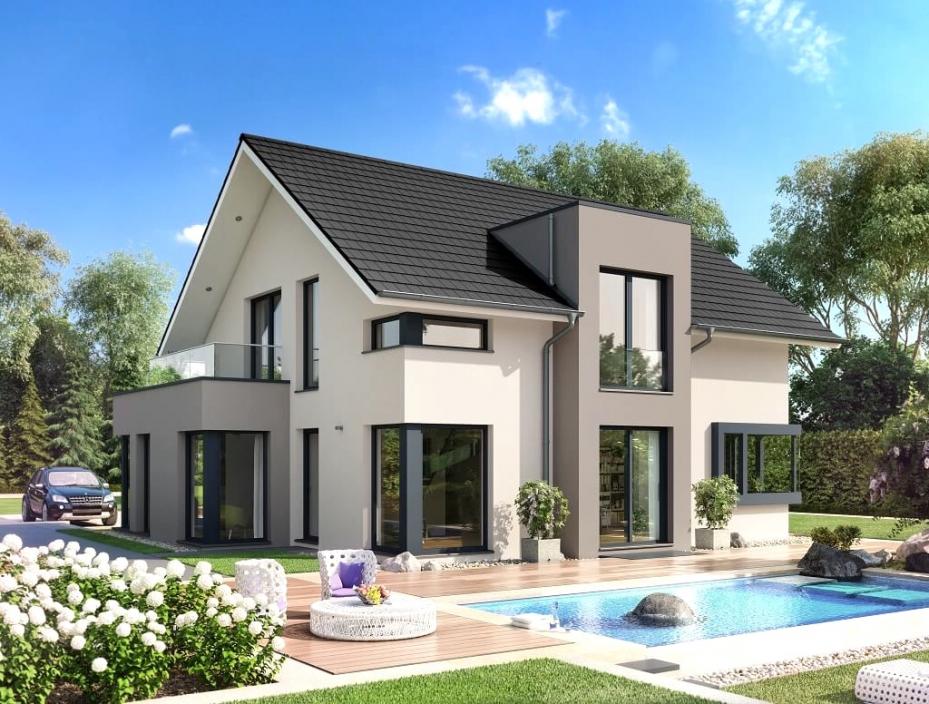 Farbe Einfamilienhaus Türkis Fein On Andere Und Visuelle Hilfe Wohndesign Tolles 6