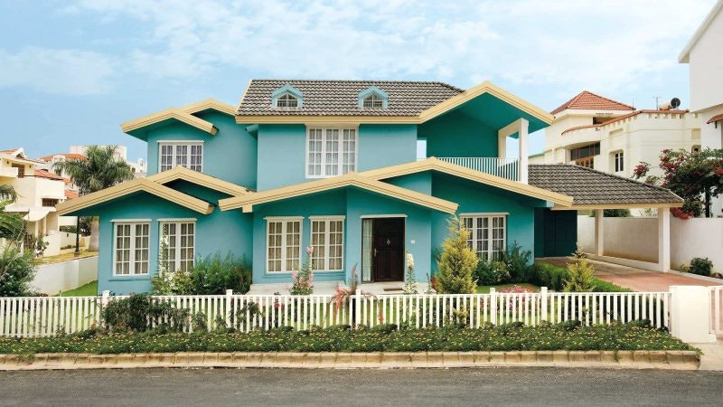 Farbe Einfamilienhaus Türkis Interessant On Andere Für Staggering Cloiste Veranda 2