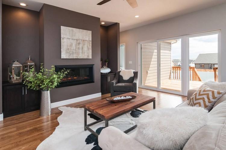 Farben Wohnzimmer Wand Großartig On Innerhalb Trendige Für Die Wohnzimmerwände 25 Ideen 1