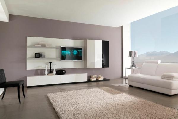 Farben Wohnzimmer Wand Großartig On Mit Moderne Faszinierend 9