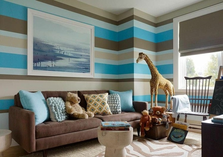 Farbgestaltung Wohnzimmer Streifen Charmant On In Letztere Auf Mit 14 9