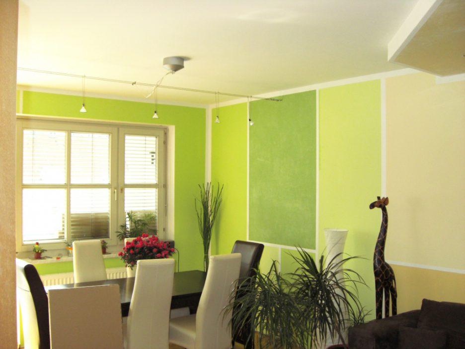 Farbgestaltung Wohnzimmer Streifen Kreativ On Innerhalb Design 4