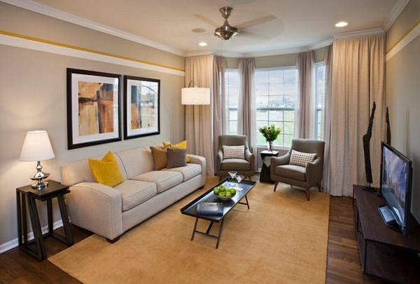 Farbgestaltung Wohnzimmer Streifen Schön On Und Cabiralan Com 6