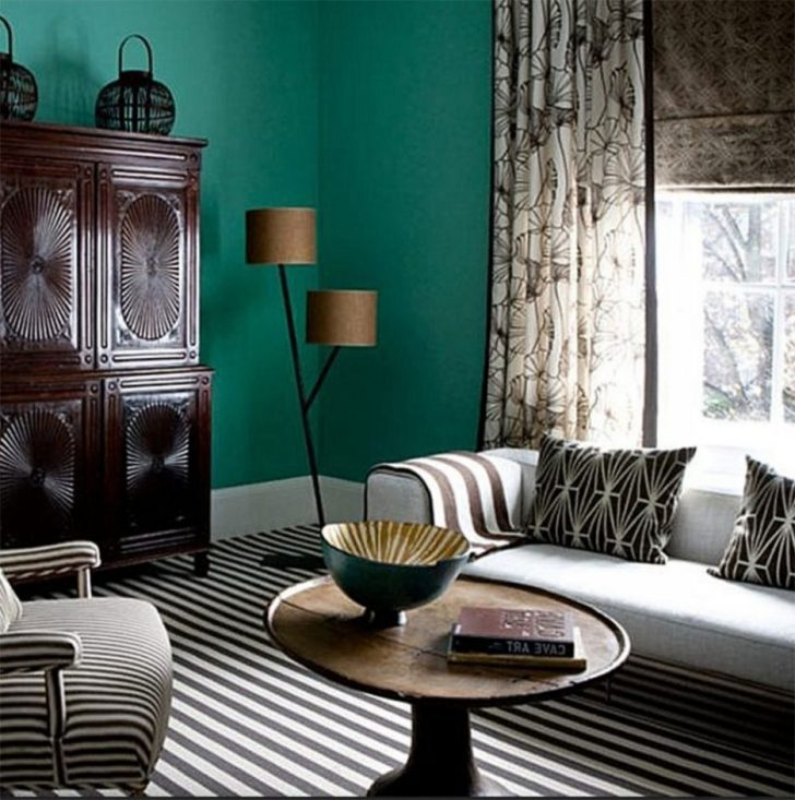 Farbgestaltung Wohnzimmer Streifen Unglaublich On In Gestaltung Reizend Auf 5