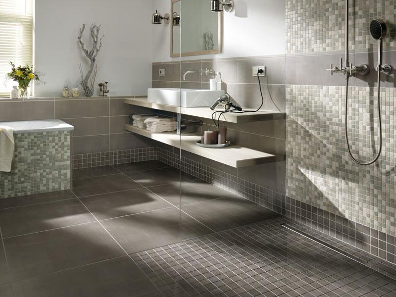 Fliesen Mosaik Dusche Einfach On Andere In Bezug Auf Grenzenloses Duschvergnügen Mit Einer Bodenebenen 2