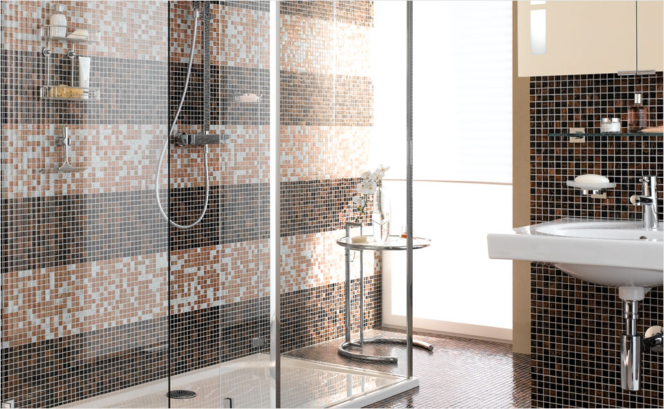 Fliesen Mosaik Dusche Stilvoll On Andere In Bezug Auf Haltung Plus 6