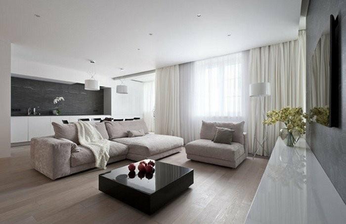 Gardinen Idee Wohnzimmer Zeitgenössisch On In Ideen Für Ihre Wohnung Archzine Net 8