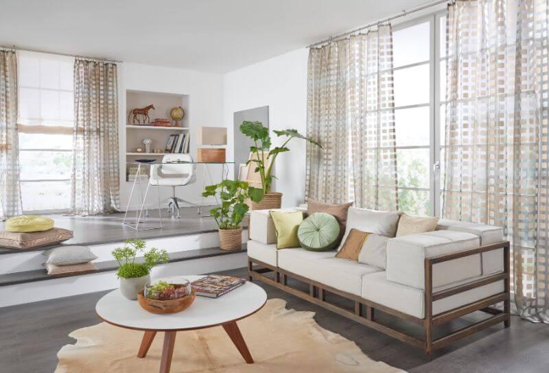 Gardinenideen Modern Für Wohnzimmer Schön On Beabsichtigt Fur Beeindruckend Mit Fr 1