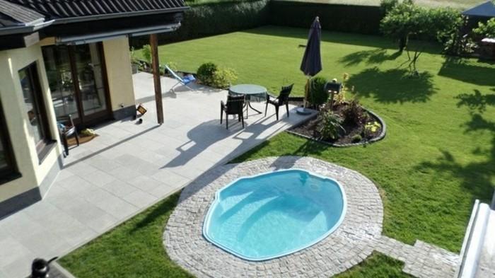Garten Ideen Mit Pool Ausgezeichnet On Und Gartenideen Kunstrasen 7