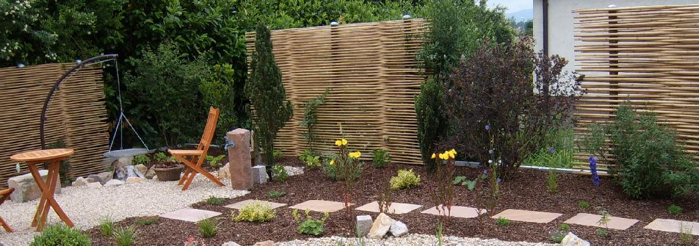 Gestaltung Garten Einfach On Andere Für Neuheit Zäune Sichtschutz Bambus 5