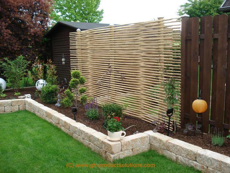Gestaltung Garten Sichtschutzwaende