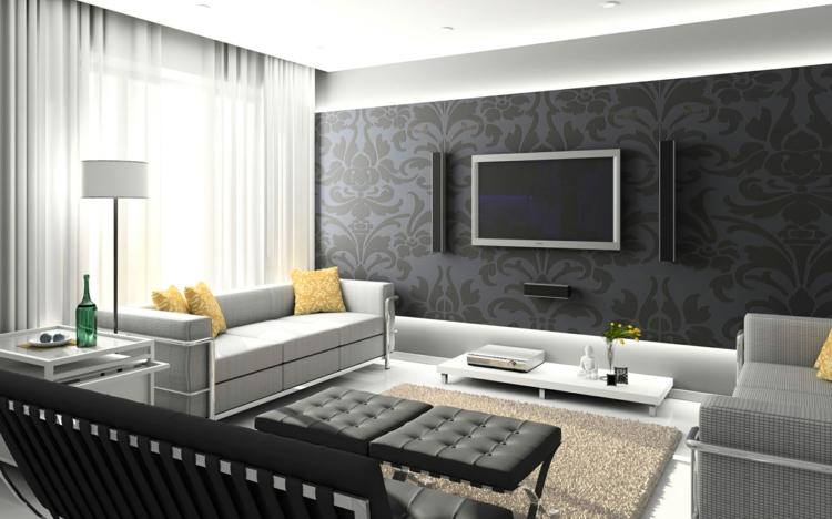 Gestaltung Wohnzimmer Ideen Charmant On überall 35 Zur Von Fußboden Wand 4
