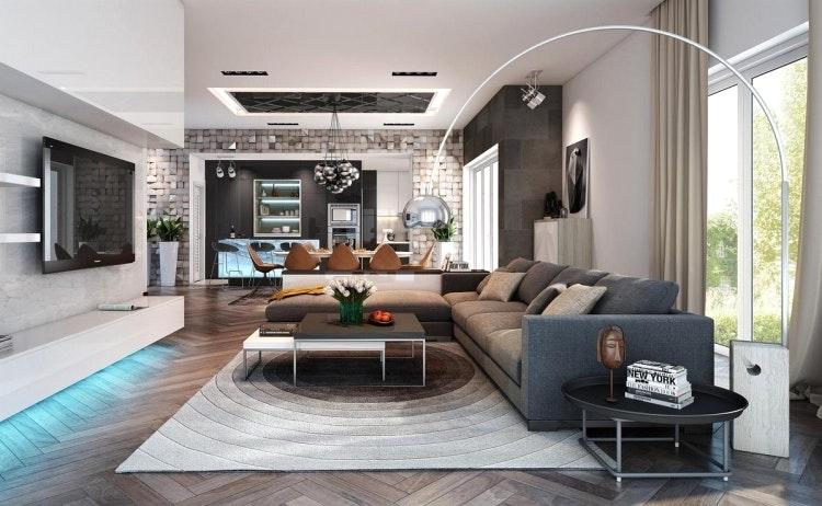 Gestaltung Wohnzimmer Ideen Erstaunlich On Innerhalb Grau Zuhause Umgestalten Zusammen Mit 35 9