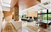 Gestaltung Wohnzimmer Sandstein