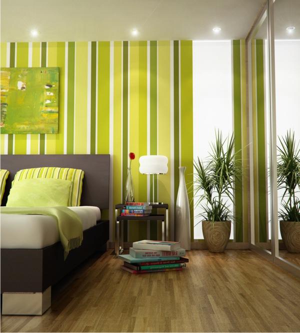 Gestreifte Grüne Wände Einzigartig On Andere Auf 100 Ideen Für Wandgestaltung In Grün Archzine Net 8