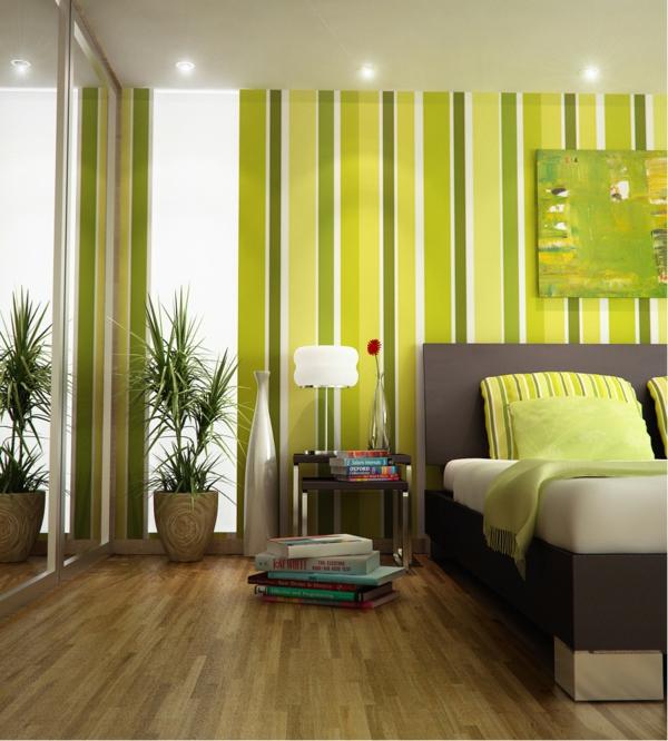 Gestreifte Grüne Wände