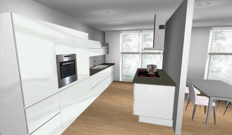 Halboffene Küchen Wunderbar On Andere Auf Küche In Neuer Wohnung 3