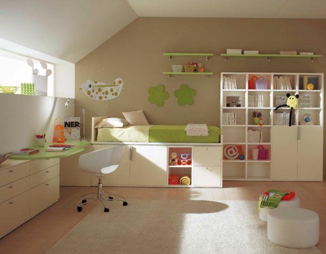 Ideen Kinderzimmer Glänzend On Innerhalb Einrichten Schönes Design Grasgrünes Bett 5