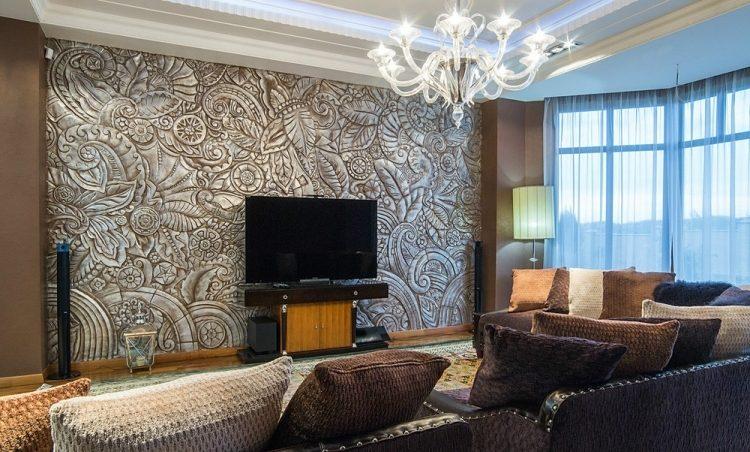 Ideen Wandbemalung Wohnzimmer Beeindruckend On Auf Dekor 5