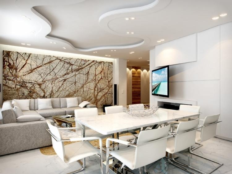 Ideen Wandbemalung Wohnzimmer Beeindruckend On In Bezug Auf 30 Wohnzimmerwände Streichen Und Modern Gestalten 3
