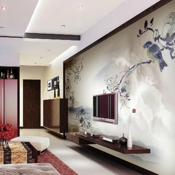 Ideen Wandbemalung Wohnzimmer Großartig On Für Beautiful Mit Holz Contemporary Best 8