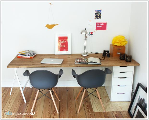 Ikea Schreibtisch Diy Nett On Andere In Bezug Auf DIY Günstig Schnell Den Selber Bauen 3