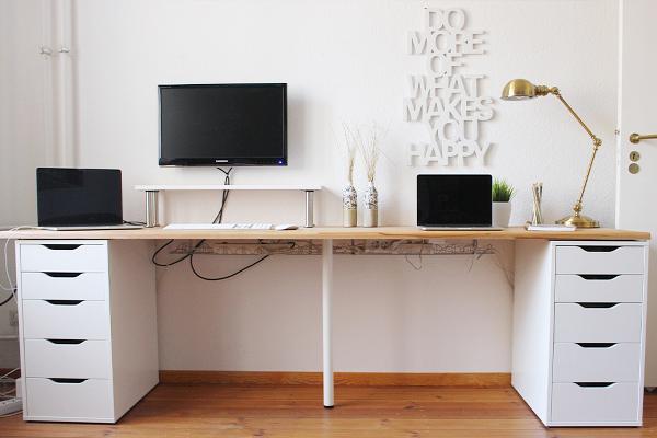 Ikea Schreibtisch Diy Schön On Andere Innerhalb Mit Diesen Hacks Wird Dein Büro Zum Angesagten Trendsetter 4