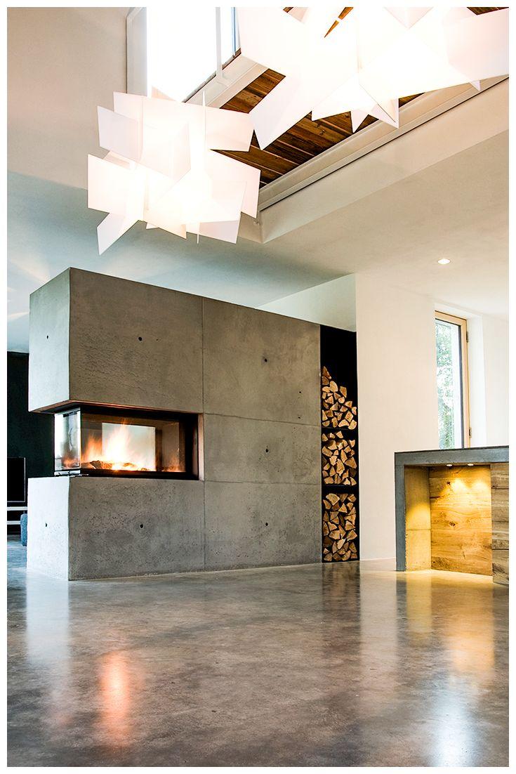 Kamin Modern Wohnzimmer Ausgezeichnet On Auf Beeindruckend Kaminideen Mit Ideen Bilder 7