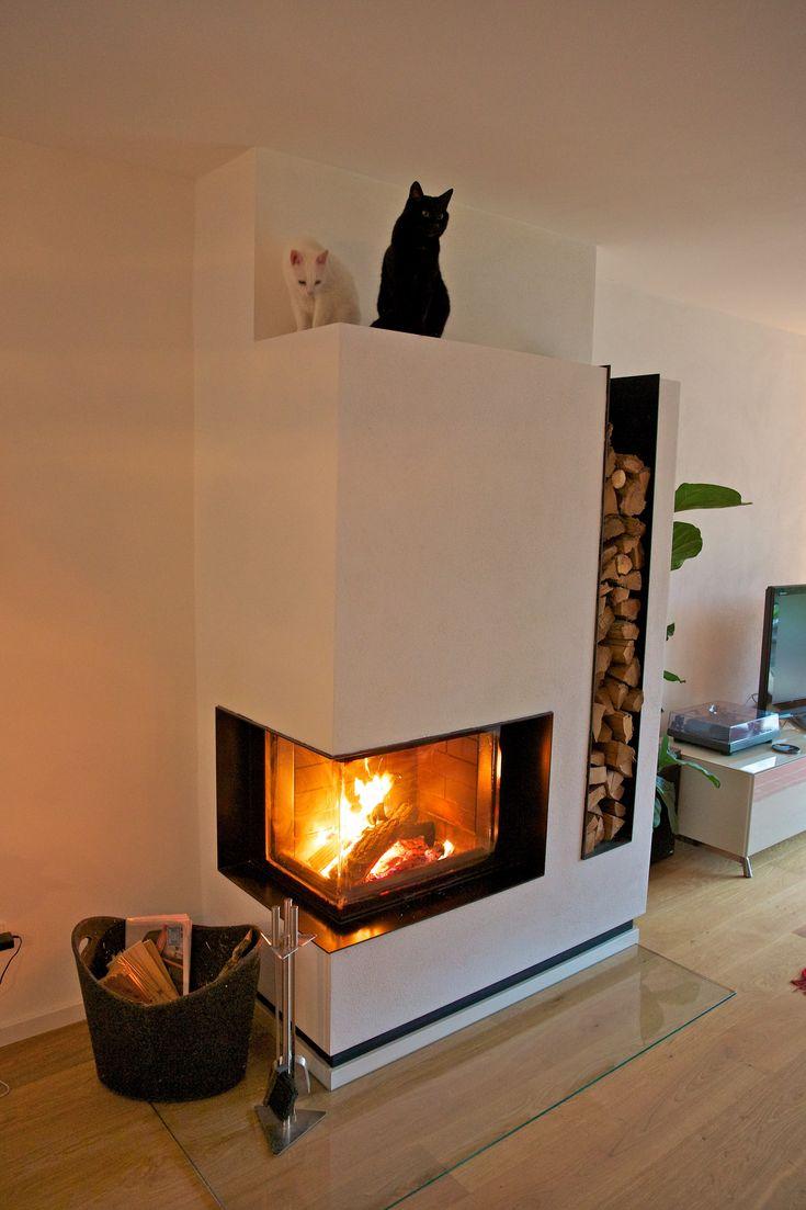 Kamin Modern Wohnzimmer Bescheiden On Und Moderne Mit Kaminofen 100 Images 8