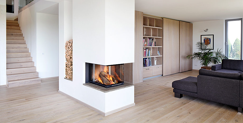 Kamin Wohnzimmer Erstaunlich On Für Mit Glänzend Kaminofen Modern 6