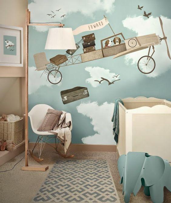 Kinderzimmer Flugzeug Kreativ On Andere Und Perfekt 5 DIY Ideen Wandgestaltung Im Lampe 4