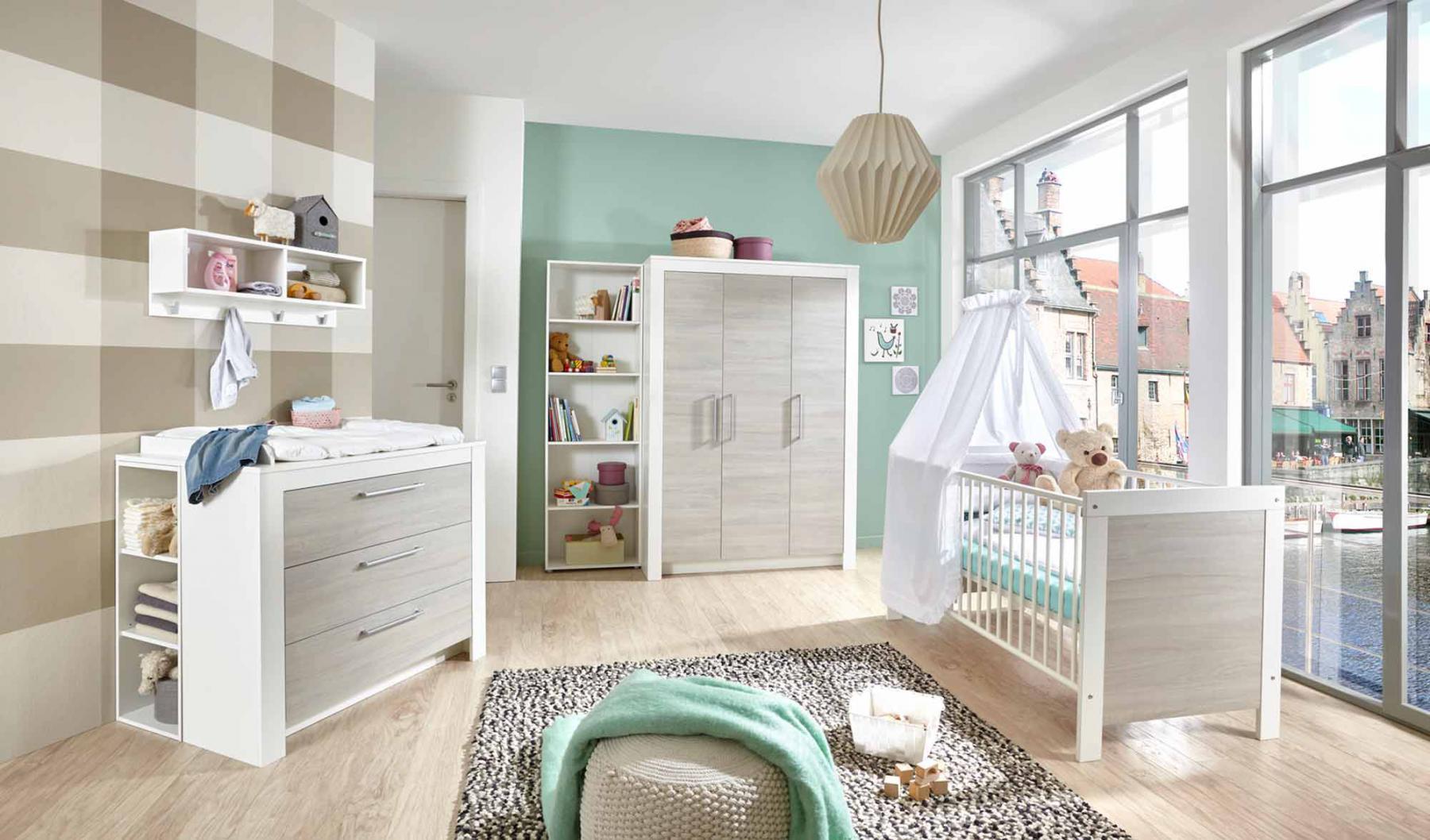 Kinderzimmer In Grau Frisch On Andere Bezug Auf Babyzimmer Weiß Silber Ulme Kaufen Bei 3