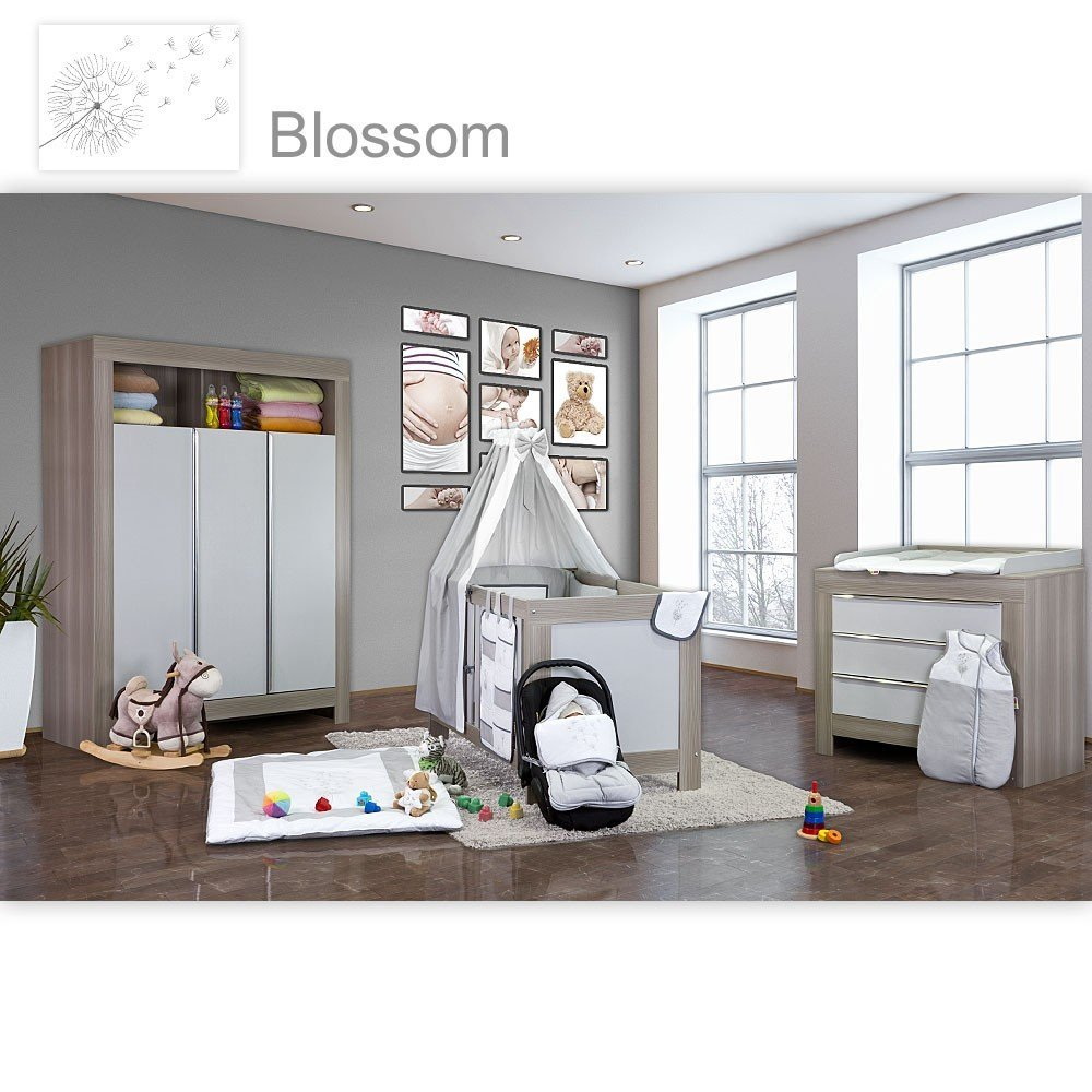 Kinderzimmer In Grau Herrlich On Andere überall Babyzimmer Felix Akaziengrau 10 Tlg Mit 3 Türigem Kl 6