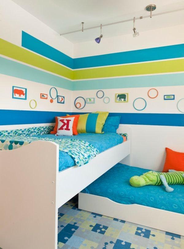 Kinderzimmer Wandbemalung Muster