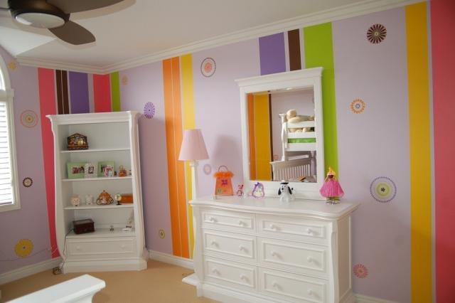 Kinderzimmer Wandbemalung Muster Modern On Andere überall 65 Wand Streichen Ideen Streifen Und Struktureffekte 3