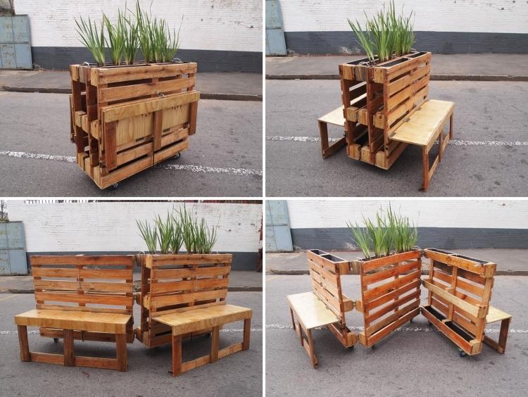 Kreative Ideen Aus Holz Wunderbar On Innerhalb Für Verwendung Der Europaletten Im Garten 5