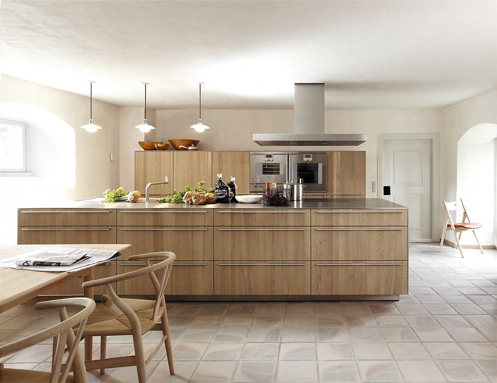 Küche Eiche Hell Modern Großartig On Innerhalb Kuche Küchen Ton Gut Designs Auch 4