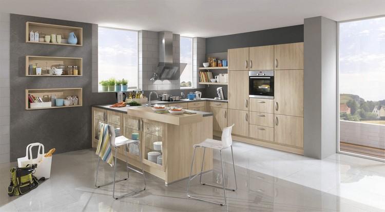Küche Eiche Hell Modern Wunderbar On In 41 Moderne Küchen Helles Holz Liegt Im Trend 7