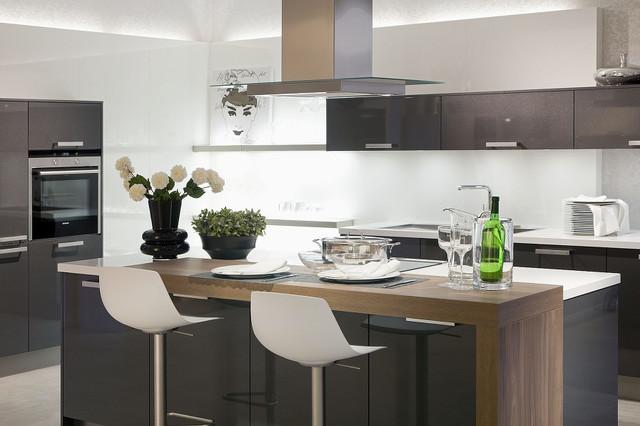 Küche Modern Mit Kochinsel Fein On Auf Offene Wohnküche 4