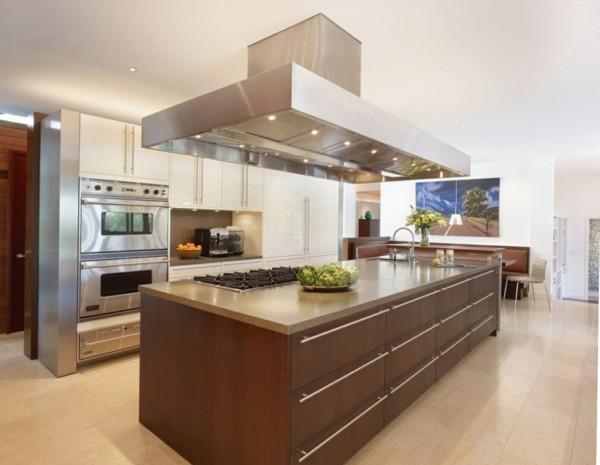Küche Modern Mit Kochinsel Zeitgenössisch On Für Tür 90 Moderne Küchen 3
