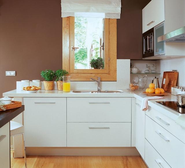 Küchen Farben Ideen Bemerkenswert On Für Kuchen For Designs Kueche Schokoladenbraun Holzboden 5