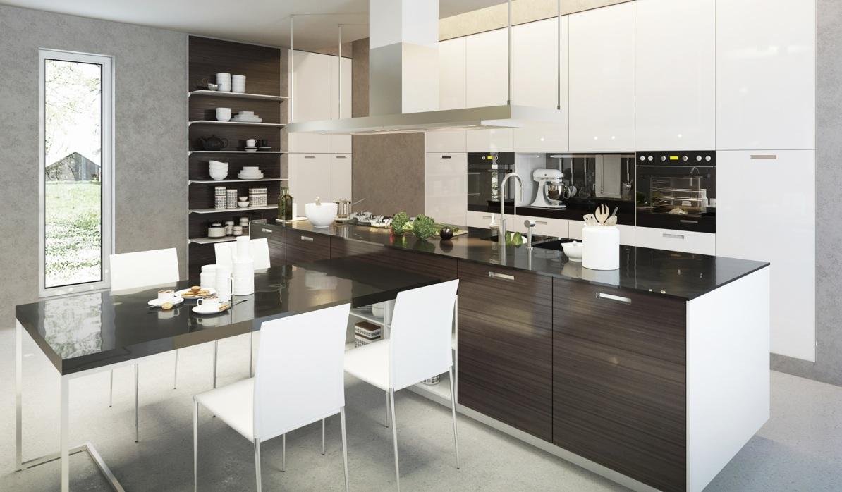 Küchen Halbinselform