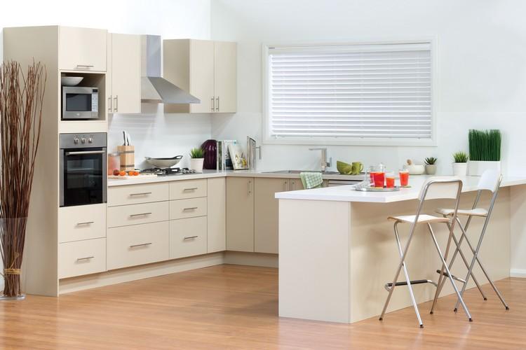 Küchen Halbinsel Form Zeitgenössisch On Andere In Küche Kuche U Ecru Farbe Weisse Arbeitsplatte 4