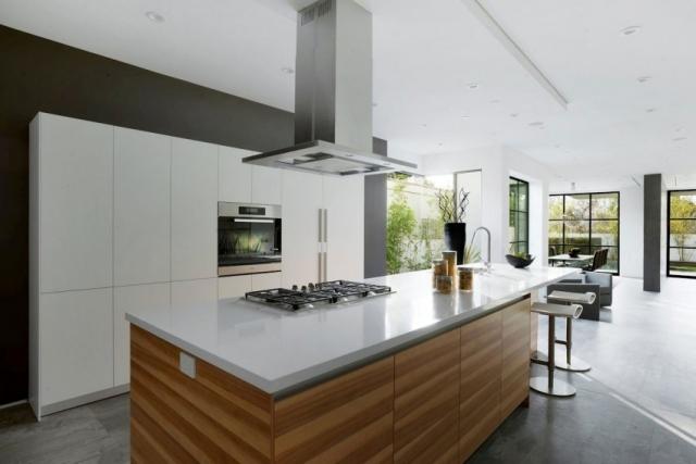 Küchen Holz Modern Mit Kochinsel Frisch On Beabsichtigt Weiß Arkimco Com 5