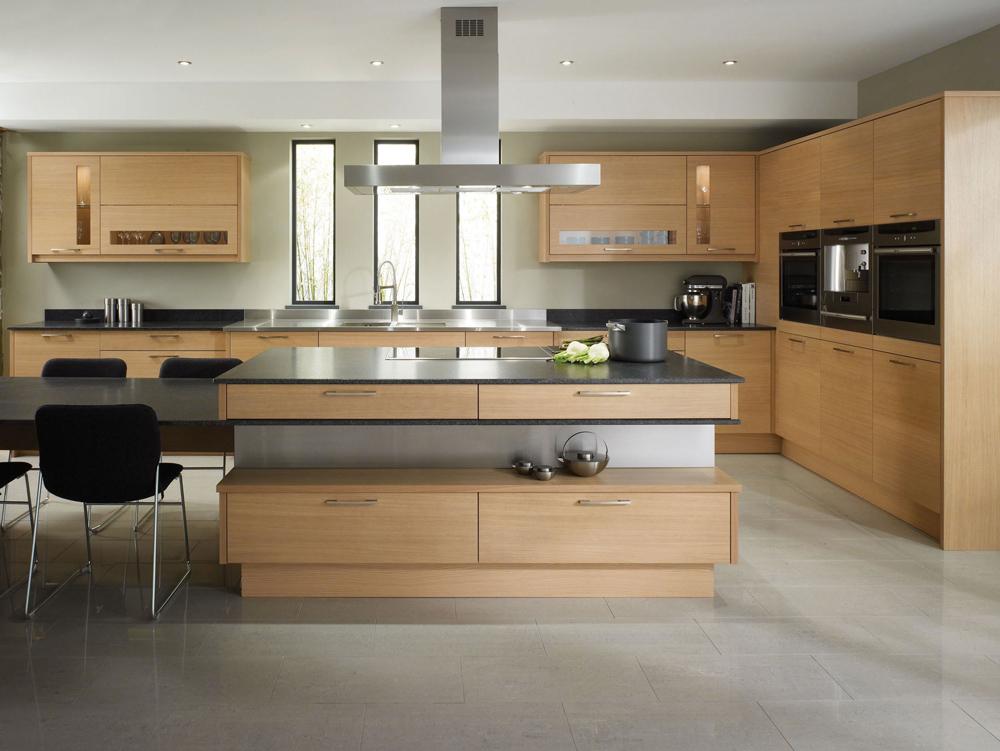 Küchen Holz Modern Mit Kochinsel Glänzend On In Bezug Auf Küche Weiß Psugmi Com 3